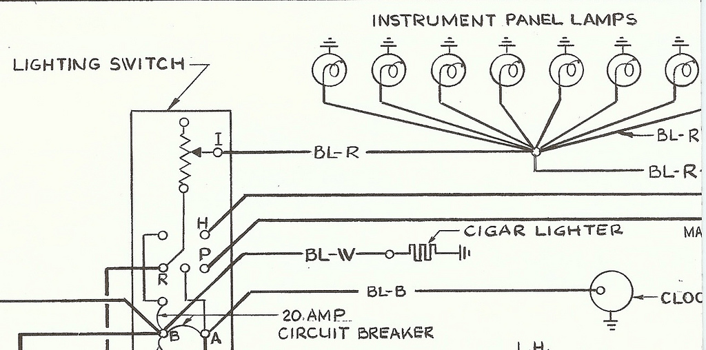1957 Electrical Wiring Schematic Suppliment W  Dial